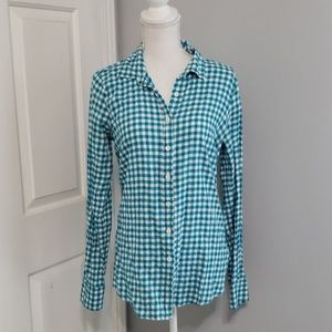 J.Crew gingham button up 6T